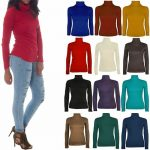 21Fashion New Ladies Long Sleeve Turtle Polo Neck Top Womens Top Jumper
