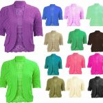 21Fashion New Ladies Plus Size Knitted Crochet Bolero Shrugs Womens Cardigan Tops UK16-20