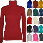 21Fashion New Ladies Long Sleeve Turtle Polo Neck TOP Womens TOP Jumper 8-26