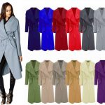 21Fashion Women's Kim Kardashian Inspi Oversized Waterfall Belted Coat Jacket