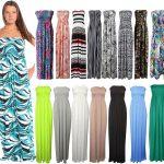 21Fashion New Womens Sleeveless Boobtube Bandeau Maxi Ladies Sheering Long Dress Size16-22