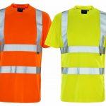 Mens High Visibility Bird Eye Short Sleeve Top Hi Viz Safety Work Wear T Shirt